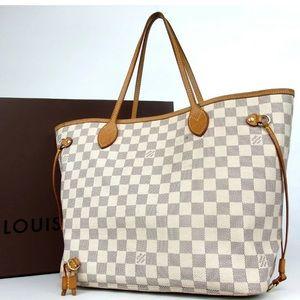 Louis Vuitton Neverfull purse handbag.